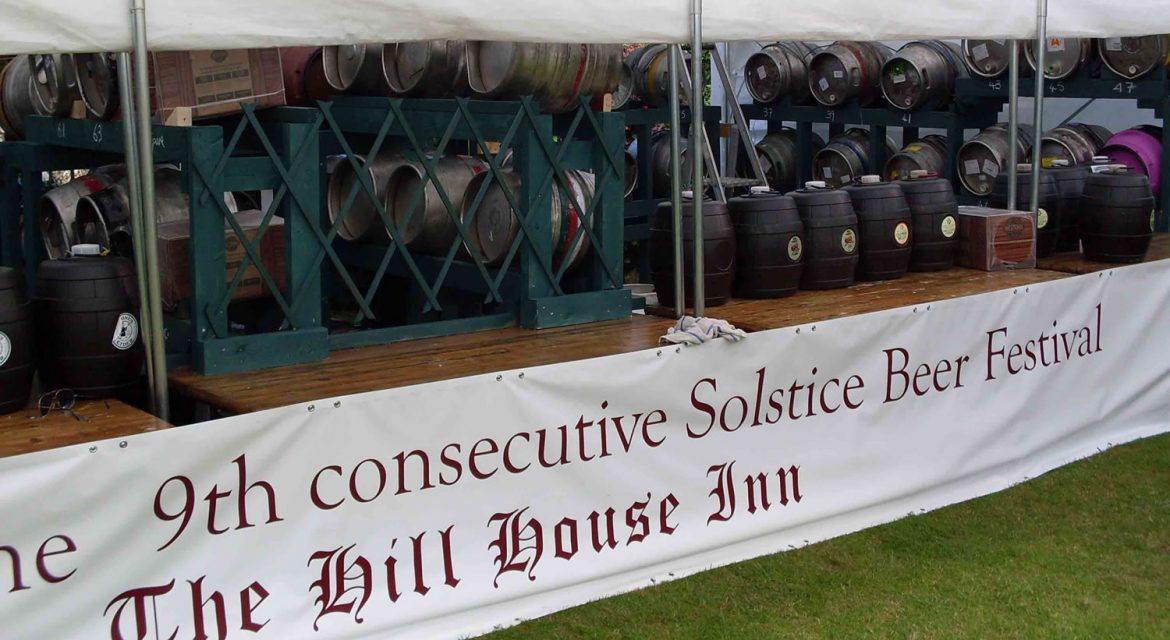 The Hill house Summer Solstice beer festival Happisburgh in Norfolk
